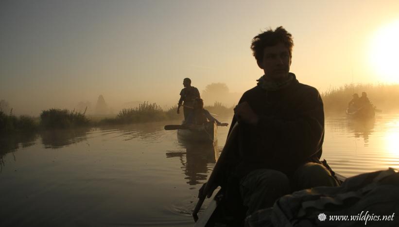 Lever de soleil sur l'eau