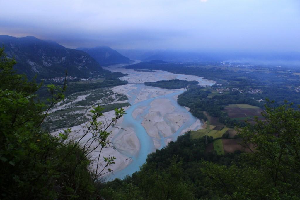 Le Tagliamento depuis la colline de Pinzano
